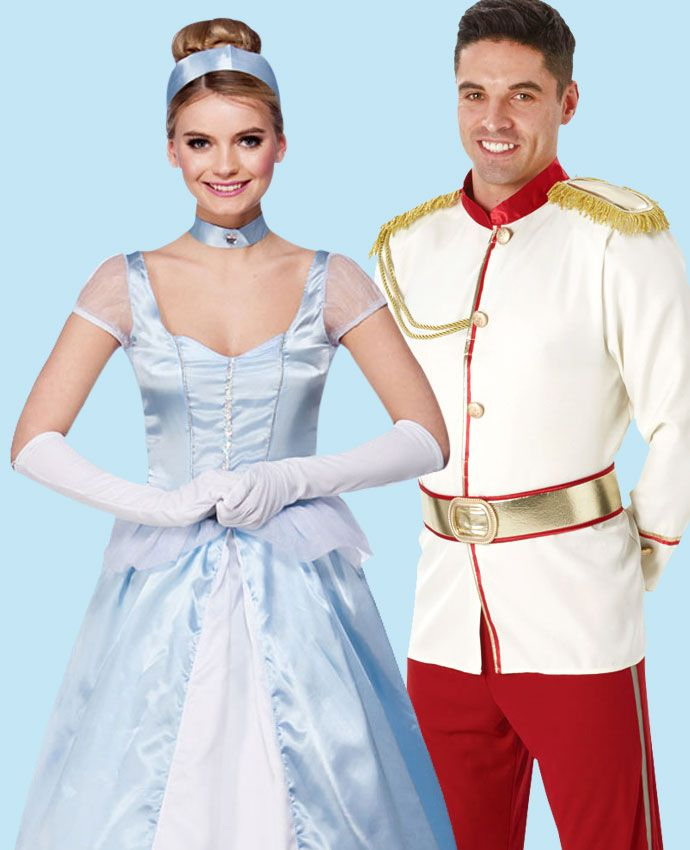 Cinderella & Prince Charming fancy dress costume idea for couples