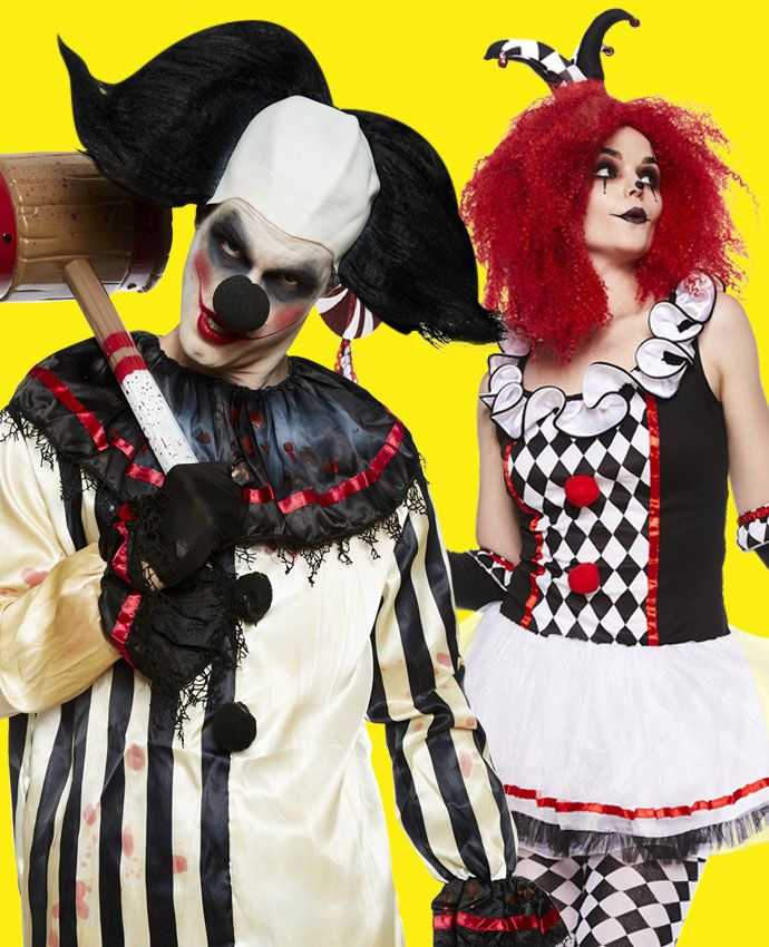 Clowns fancy dress costume idea for couples