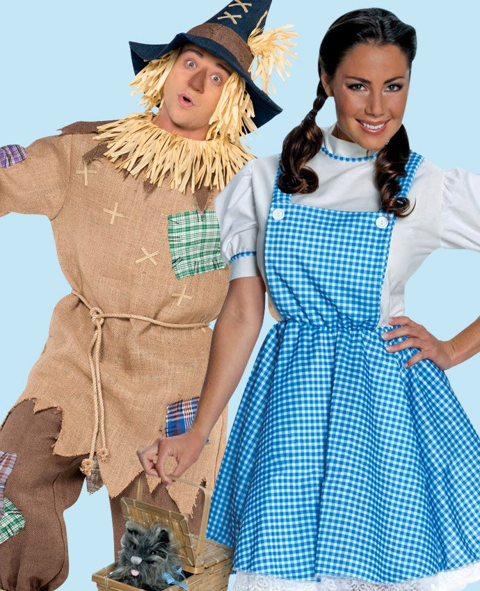 Dorothy & Scarecrow Wizard of Oz fancy dress costume idea for couples