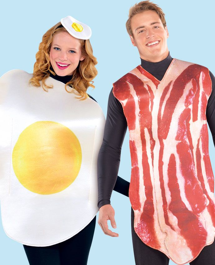 Egg & Bacon fancy dress costume idea for couples