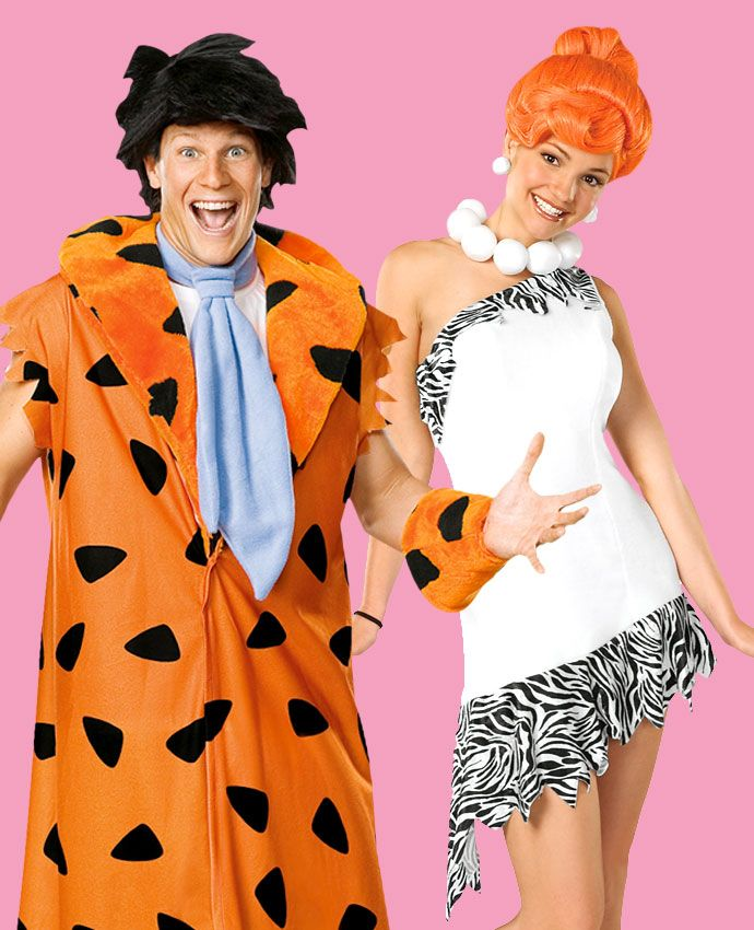 Wilma & Fred Flintstone fancy dress costume idea for couples