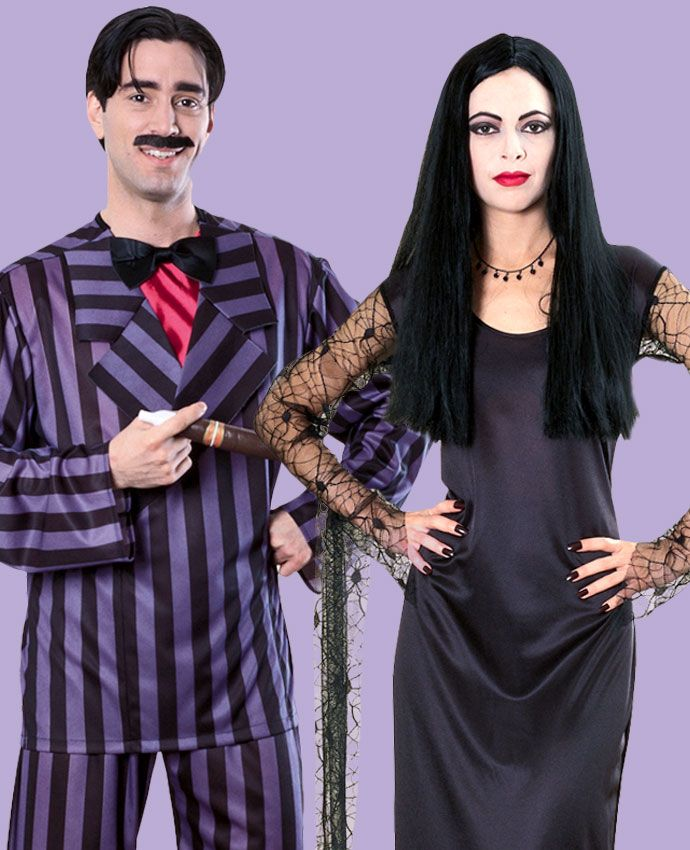 Morticia & Gomez Addams Family fancy dress costume idea for couples