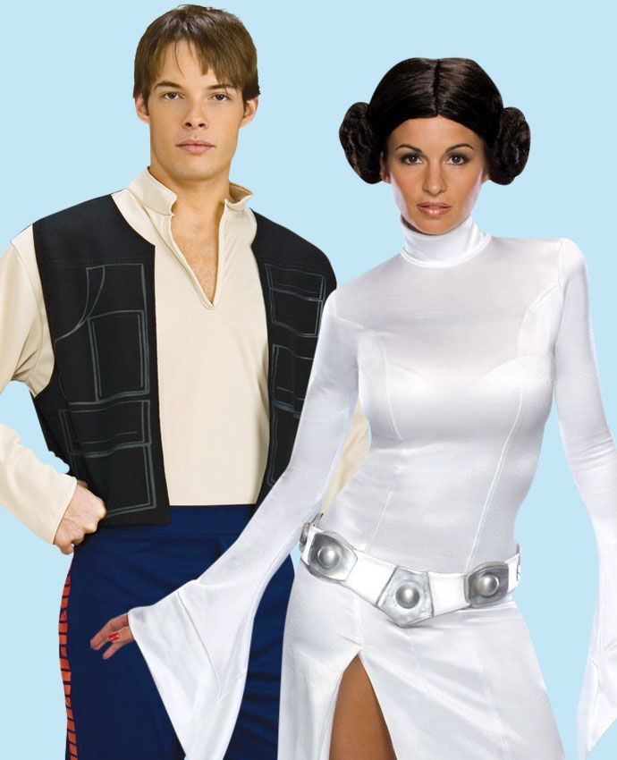 Princess Leia & Han Solo Star Wars fancy dress costume idea for couples