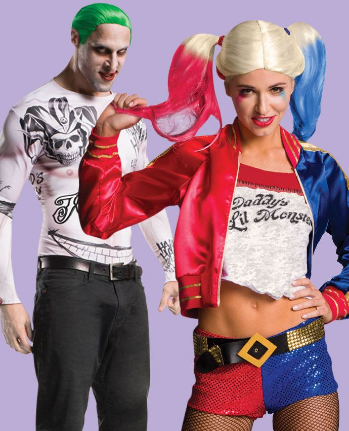 Harley Quinn & The Joker Suicide Squad fancy dress costume idea for couples