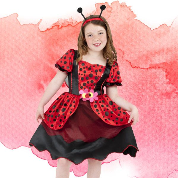 Dress as the Ladybird from Roald Dahl's James and the Giant Peach.