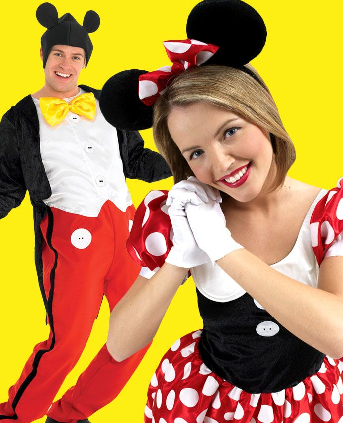 Minnie & Mickey Mouse fancy dress costume idea for couples