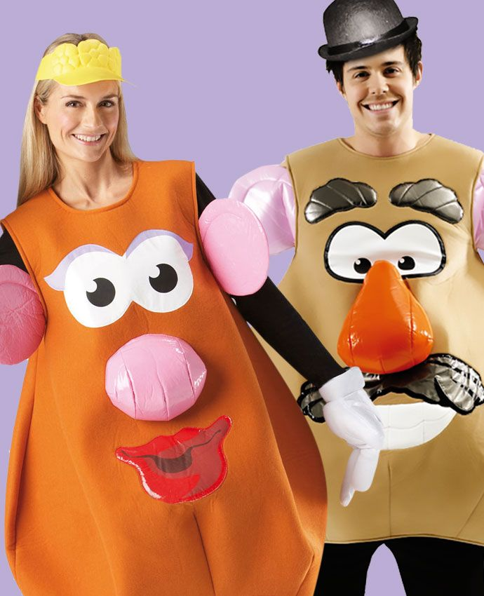 Mr & Mrs Potato Head Toy Story fancy dress costume idea for couples