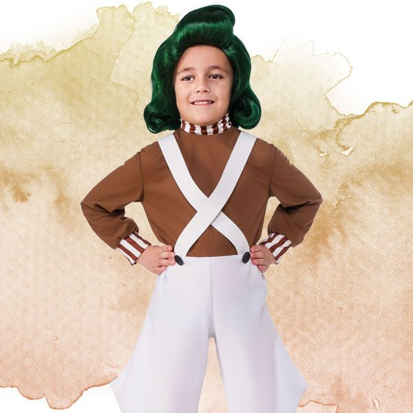 Child OOMPA LOOMPA Charlie Chocolate Factory Roald Dahl Fancy Dress Book Week