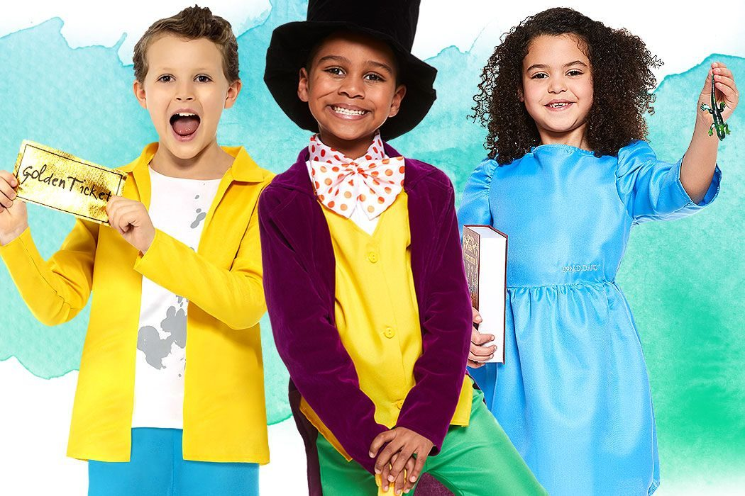 Roald Dahl fancy dress costume ideas for kids.