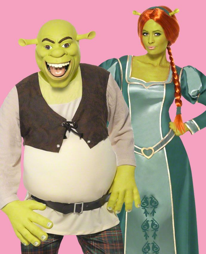 Princess Fiona & Shrek fancy dress costume idea for couples