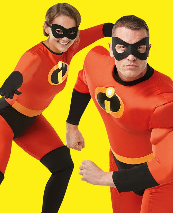 Elastigirl & Mr Incredible fancy dress costume idea for couples