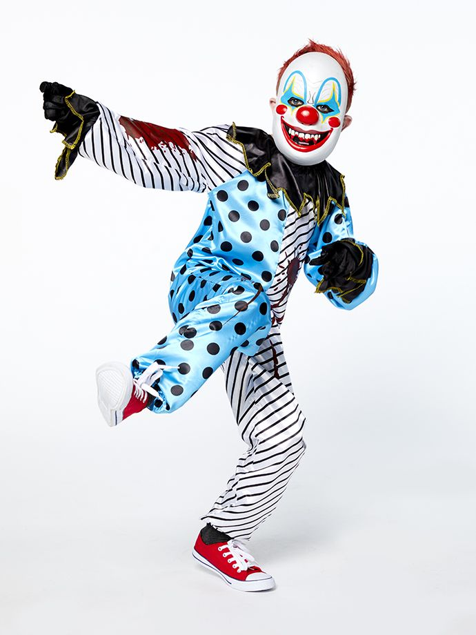 Creepy clown kids' Halloween costume