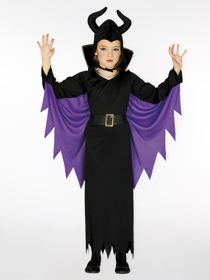 Girls' wicked queen outfit for Halloween