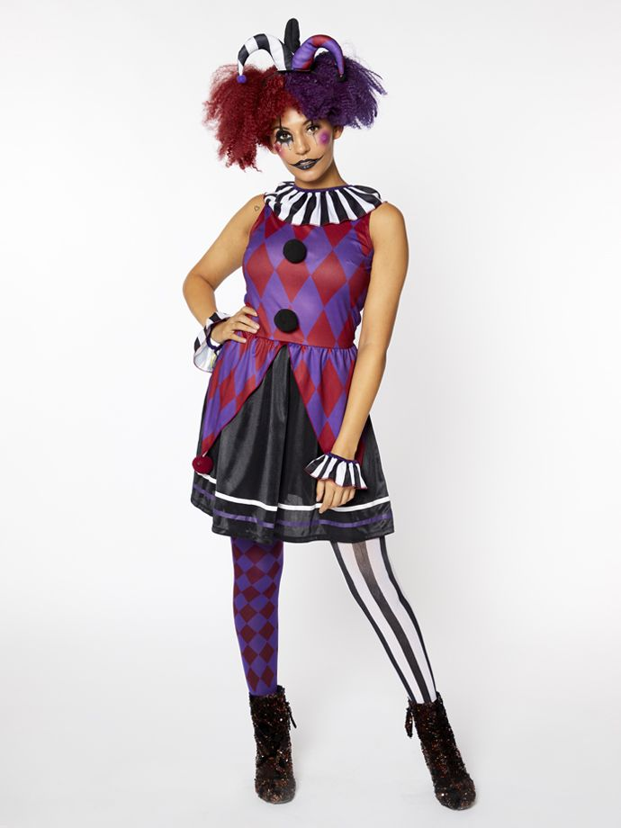 This Halloween harlequin is a great women's outfit