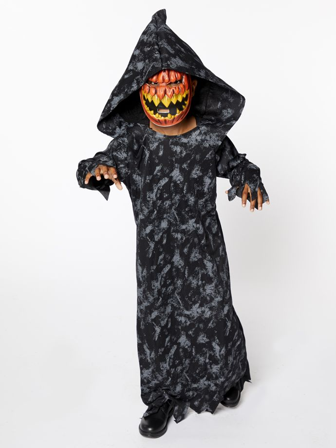 Pumpkin Grim Reaper outfit for kids this Halloween