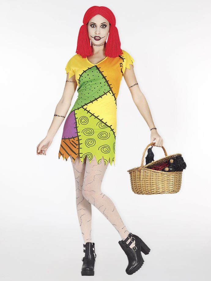 Looking for an outfit for Halloween? How about this spooky rag doll?
