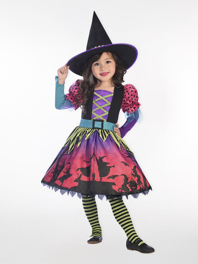 Witch Halloween outfit for girls