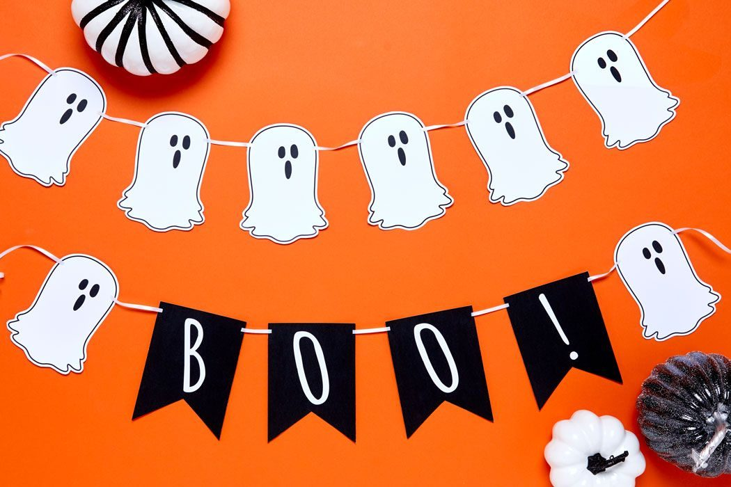 picture relating to Printable Holloween Pictures named 5 Absolutely free Printable Halloween Bunting Suggestions Celebration Delights Website