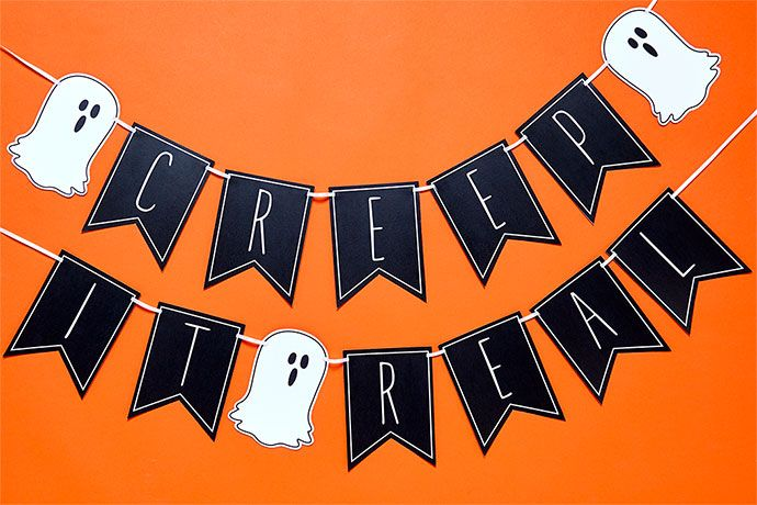 Creep it Real printable Halloween bunting