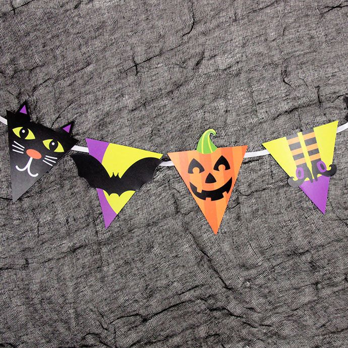 Halloween friends printable bunting