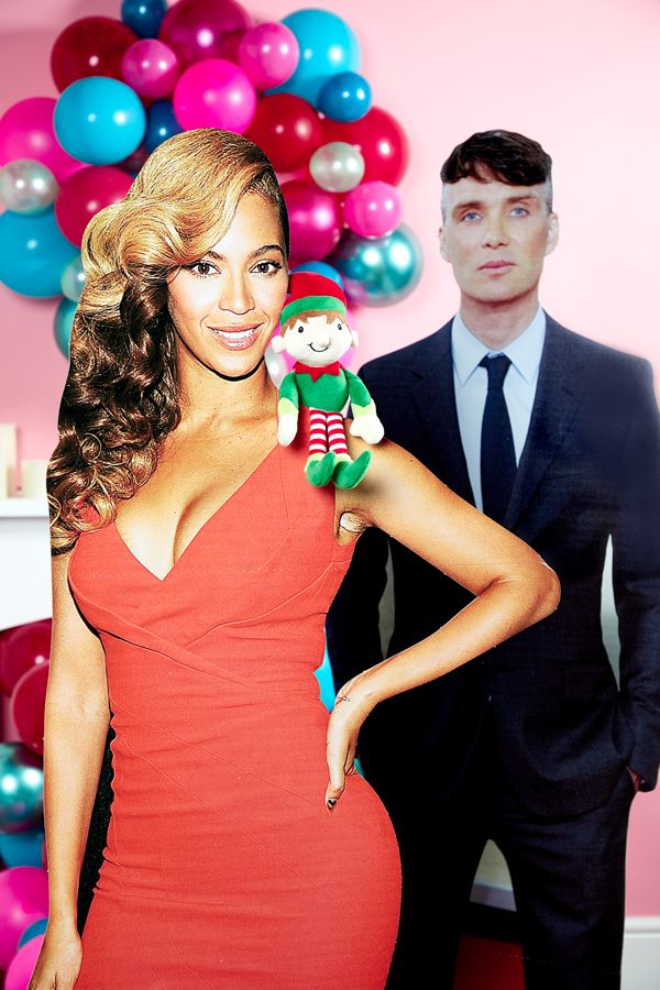 Elf on the Shelf idea - Edward meeting Beyonce and Cillian Murphy