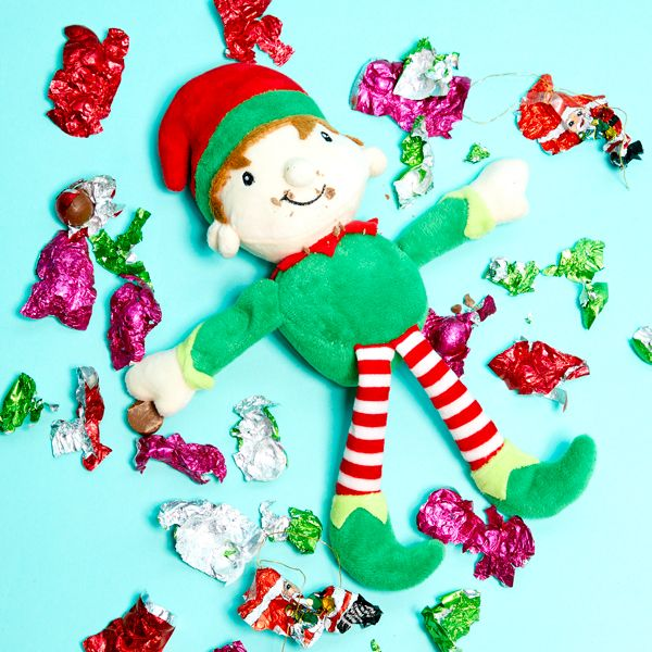Elf on the Shelf idea - Eating all the chocolate