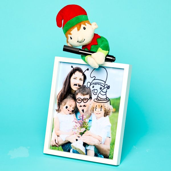 Elf on the Shelf idea - redesigning a family photo