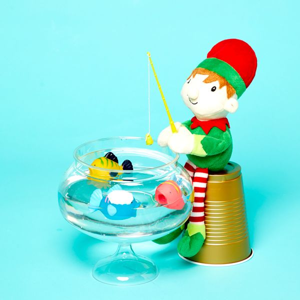 Elf on the Shelf idea - Catching fish