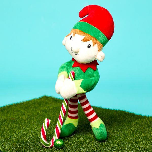 Elf on the Shelf idea - Playing golf with a candy cane