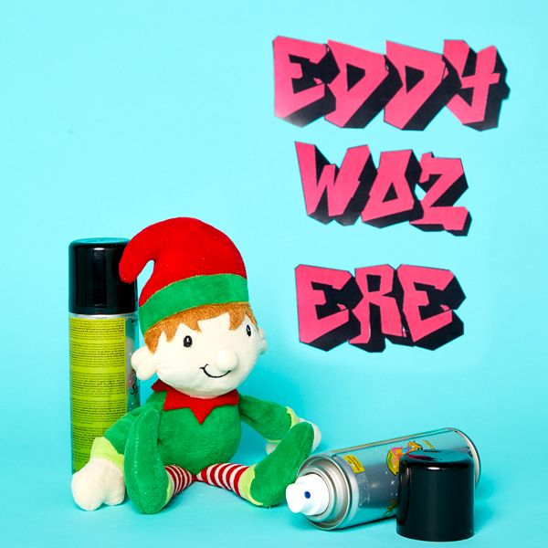Elf on the Shelf idea - Graffiti on the walls