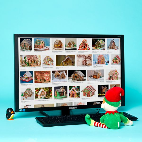 Elf on the Shelf idea - House-hunting on the computer