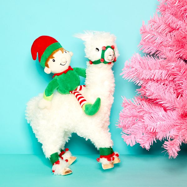 Elf on the Shelf idea - Riding a llama