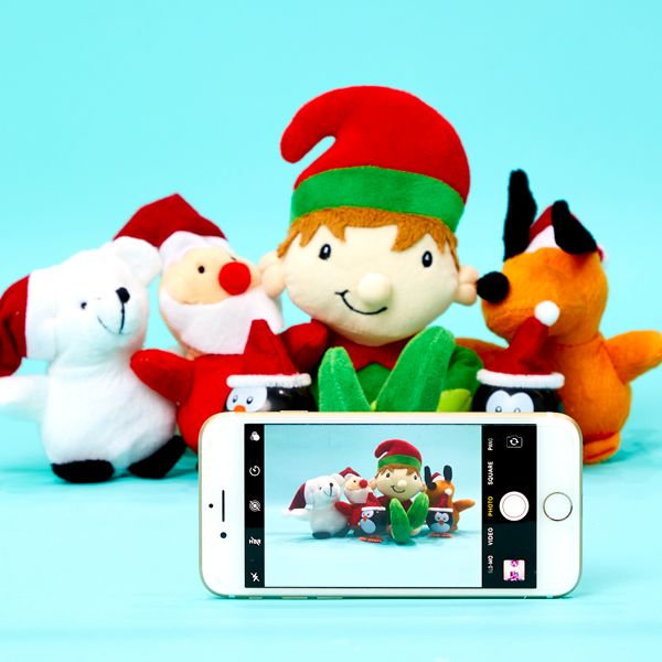 Elf on the Shelf idea - Taking a selfie