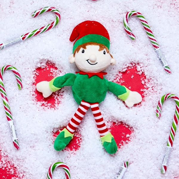 Elf on the Shelf idea - Making snow angels