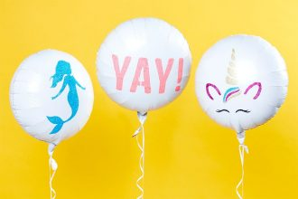 Balloons decorated with colourful glitter designs