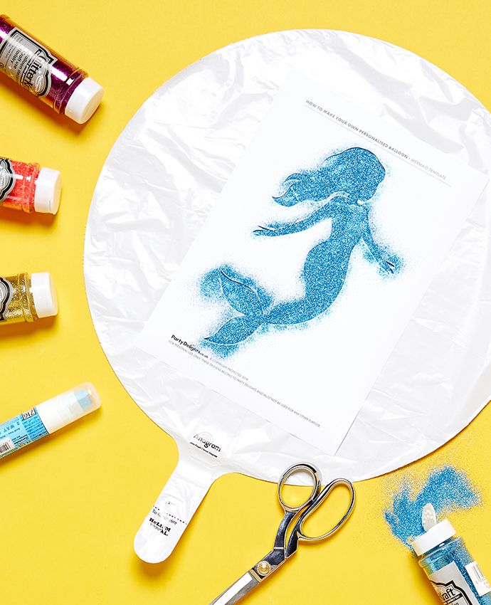 Create your own mermaid balloon - Step 2