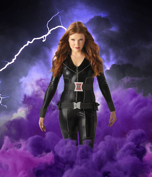 Black Widow fancy dress costume