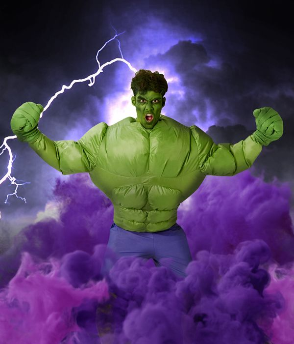 The Incredible Hulk inflatable fancy dress costume