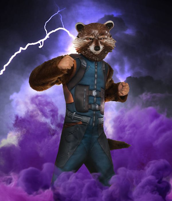 Rocket Raccoon Guardians of the Galaxy fancy dress costume