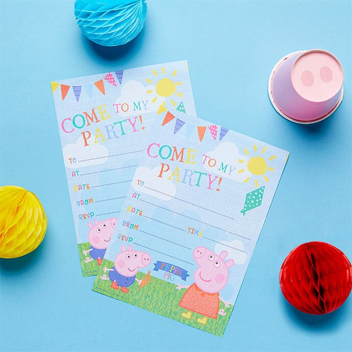 Peppa Pig birthday party invitations