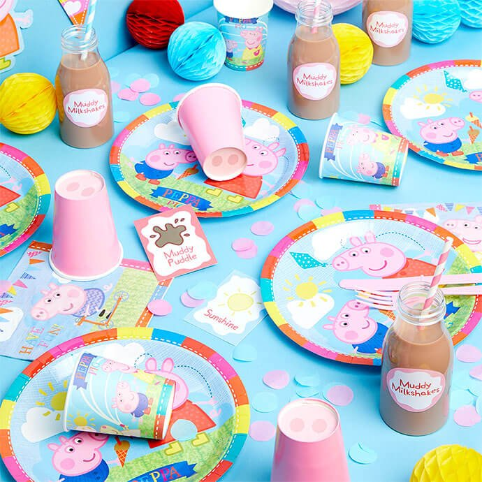 Peppa Pig birthday party tableware