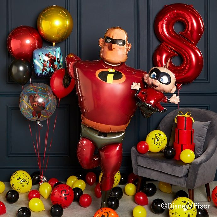 Life-size Mr Incredible and Jack-Jack Incredibles 2 balloon