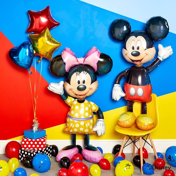 Life-size Mickey and Minnie Mouse balloons