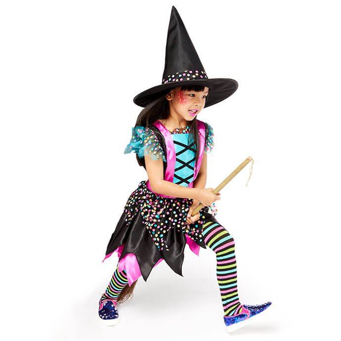Cheap girls' witch Halloween costume