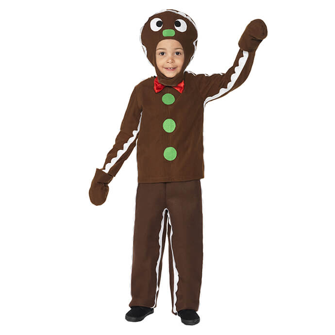 Gingerbread man Christmas fancy dress costume for toddlers