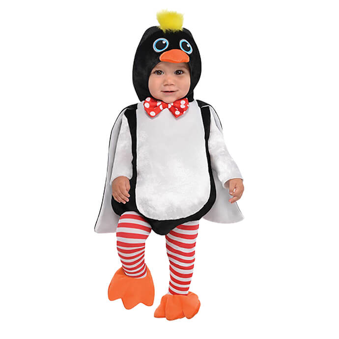 Penguin Christmas fancy dress costume for babies and toddlers