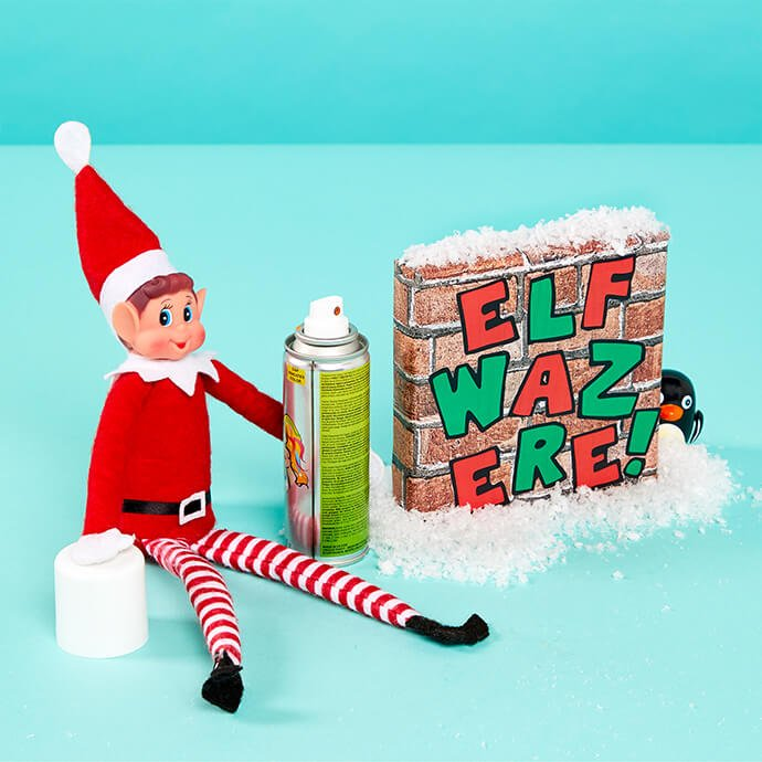 Elf on the Shelf drawing on the walls