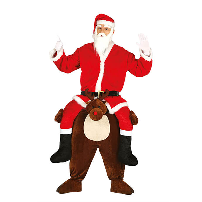 Santa and Rudolph Christmas fancy dress costume