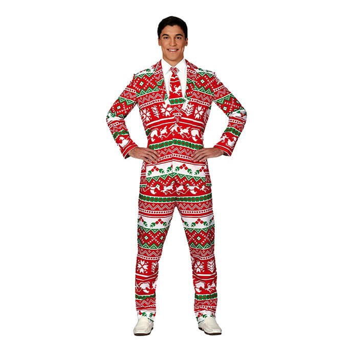 Christmas suit fancy dress costume