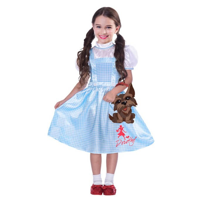 Dorothy from Wizard of Oz with a Toto bag